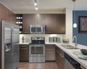 Open kitchen quartz countertops