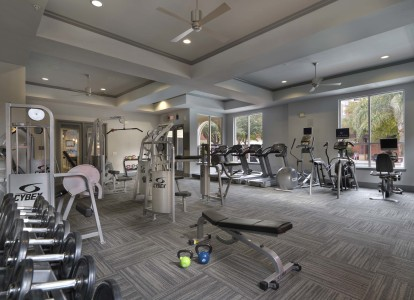 Midtown fitness center with cardio equipment and free weights