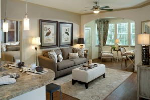Living room with solairum great for home office