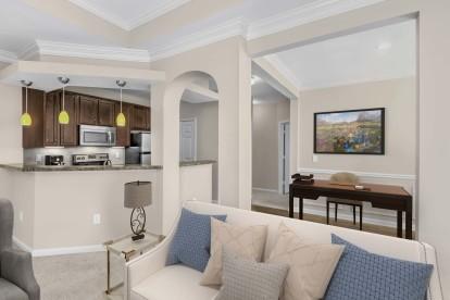 Living room flex space