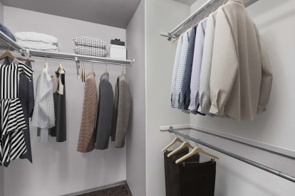 With walk in closets
