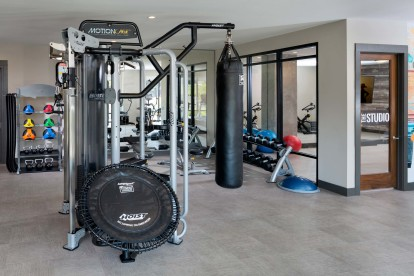 24-Hour Fitness Center with Strength Training Equipment