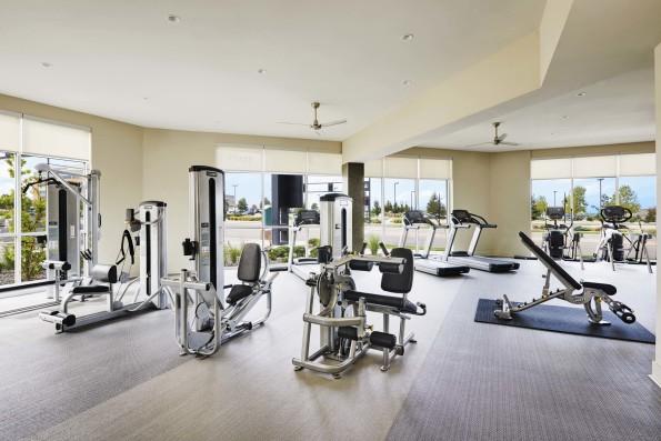 Fitness center exercise equipment