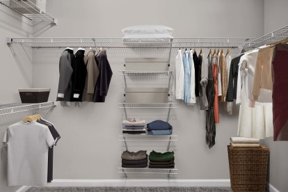 Walk-in closet with wire shelving and lots of storage space