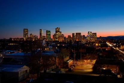 Skyline views of Downtown Denver