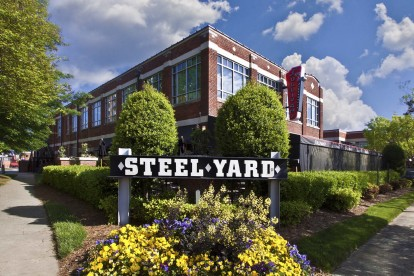 Dining at the steel yard in South End neighborhood