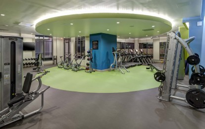 Two 24 hour fitness centers cardio and weight training