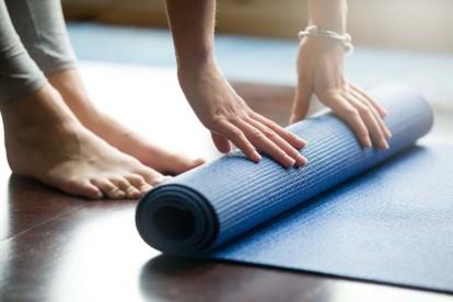 Yoga area in fitness center