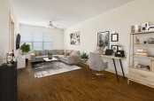 Large one bedroom living room with space to work from home