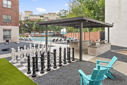 Midtown poolside chessboard