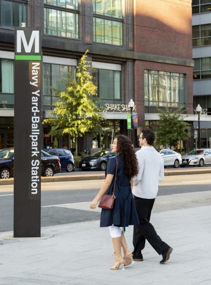 Neighborhood metro station