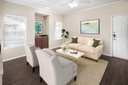 Living room wood style floors
