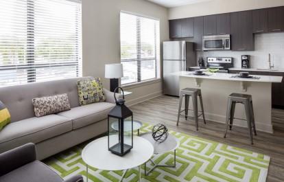 Open living kitchen