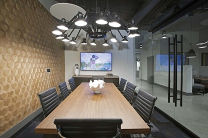 Private conference room with tv in the hub community workspace