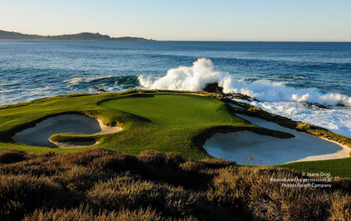 Pebble Beach Golf Links iconic par-3 7th hole
