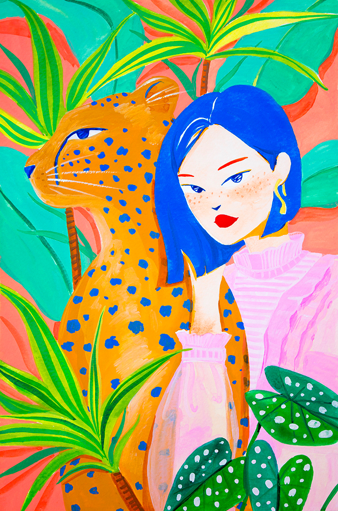 short-hair-girl-and-leopard-in-garden_small.jpg