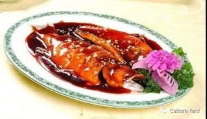 Traditional Chinese cuisine: sweet and sour fish