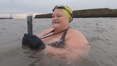 Katie has found new purpose thanks to sea swimming.