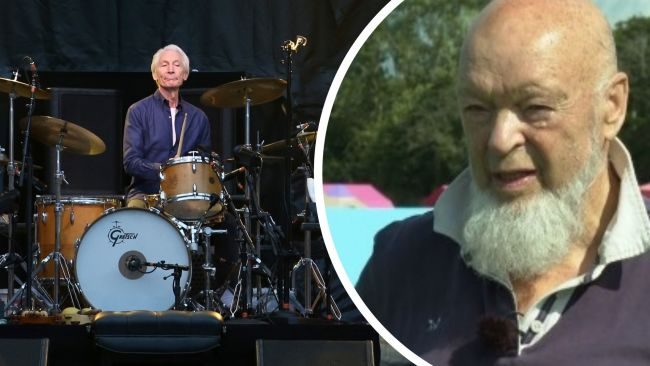 File photo dated 09/06/18 of Charlie Watts of the Rolling Stones during their gig at the Murrayfield Stadium  Michael Eavis pic from ITV interview on Aug 25, 2021.