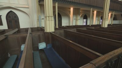 170720-Empty pews at St Mary's Church in Tetbury-ITV News West Country