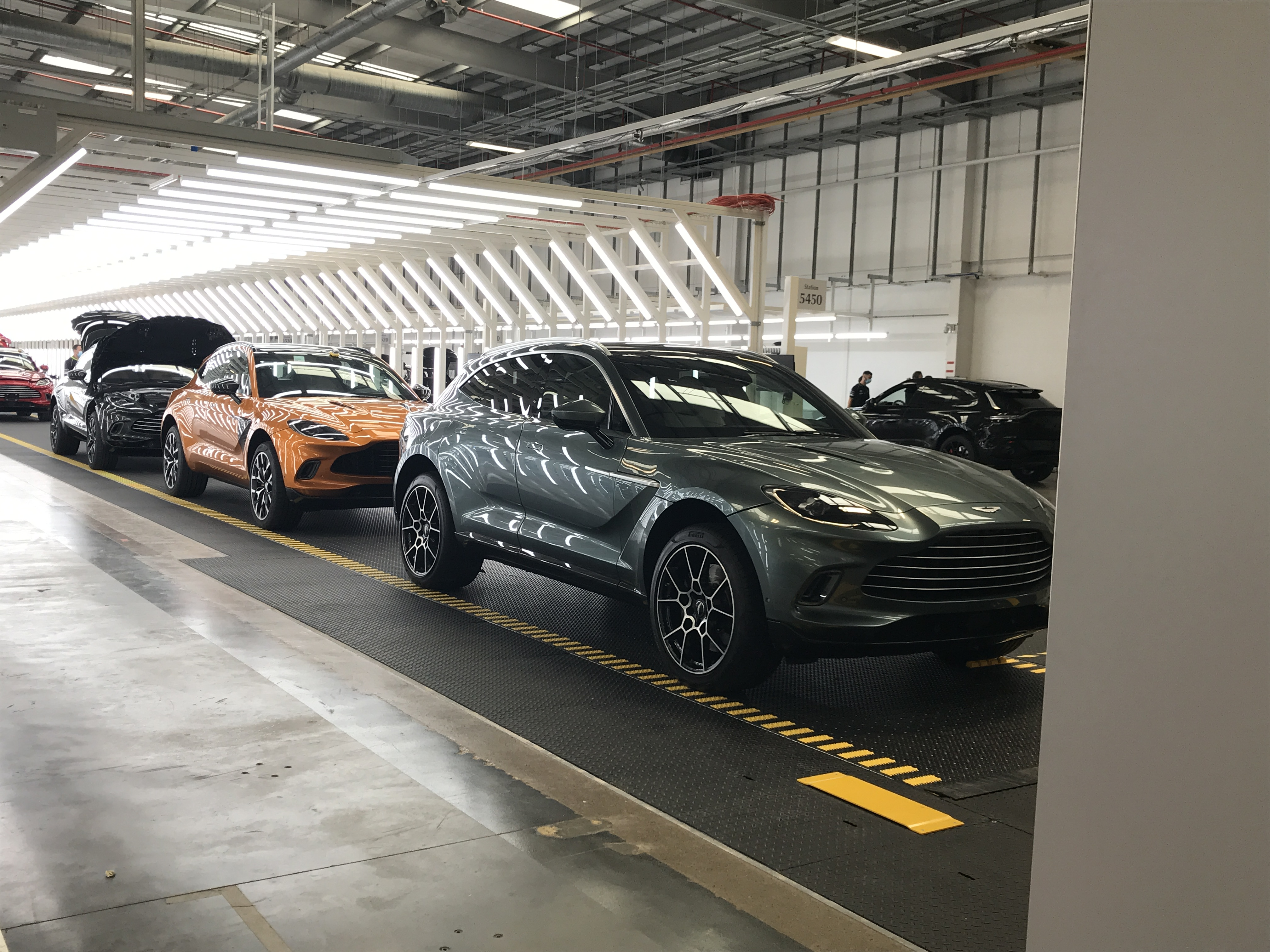 First Aston Martin Suv Comes Off Production Line At St Athan Factory Wales Itv News