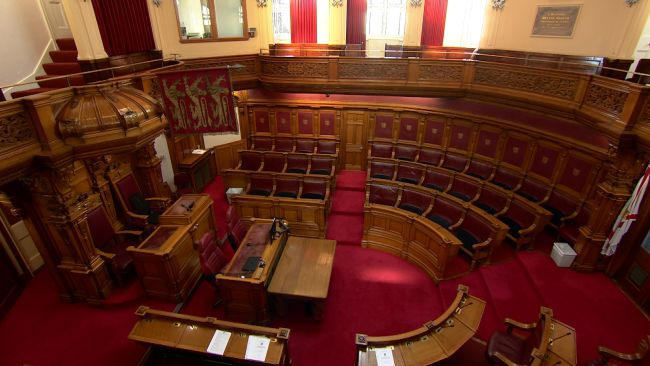 The States Chamber in St Helier.