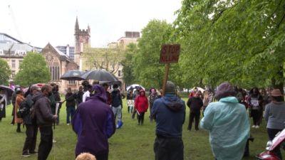 25-05-21 Bristol George Floyd Vigil- ITV News