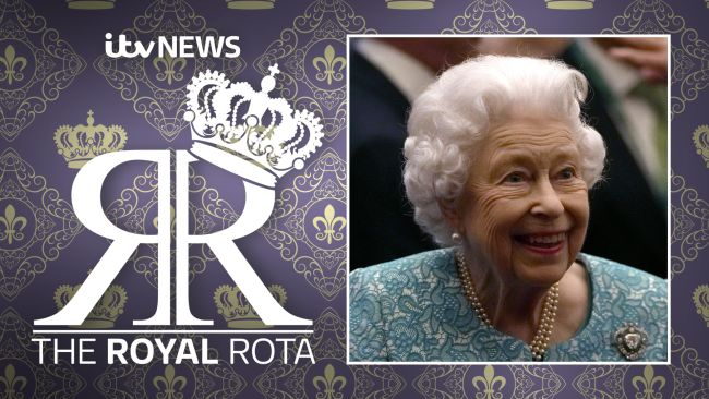 The Royal Rota podcast image of The Queen smiling