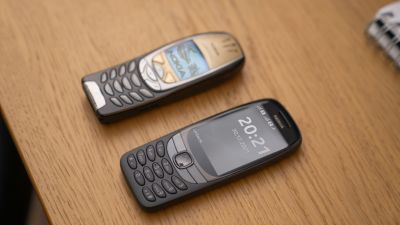 Nokia 6310 old and new relaunched versions.