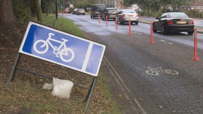 A controversial cycle scheme in West Sussex could be removed over concerns that it's making traffic jams worse during busy periods.
