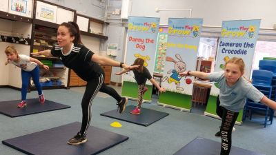 Online PE lessons with youngsters from Rushmere Hall Primary School