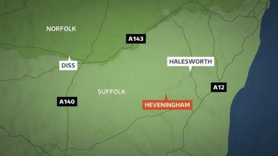 Two women were injured by a falling tree near Heveningham.