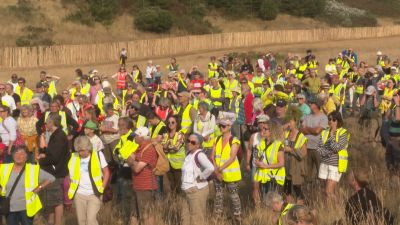 200921 sizewell protest beach crowd