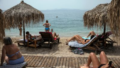 A beach holiday in Greece