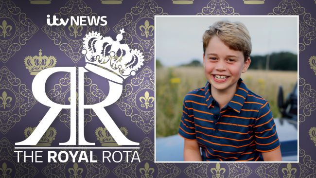 Photograph of Prince George taken by the Duchess of Cambridge and released for his birthday.