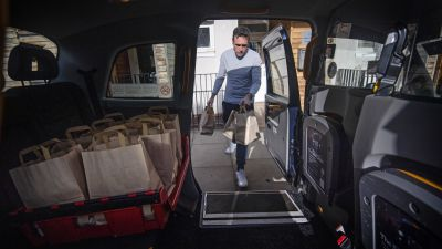 An enterprising London black cab driver has launched a pie and mash delivery service after seeing his income plummet during the coronavirus pandemic.