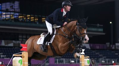 Great Britain's Scott Brash riding Jefferson in the Individual Jumping Final at Equestrian Park