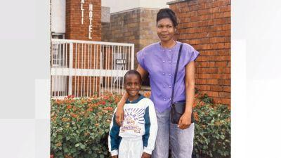 Malcolm Bidali with his mum Maggie Turner.