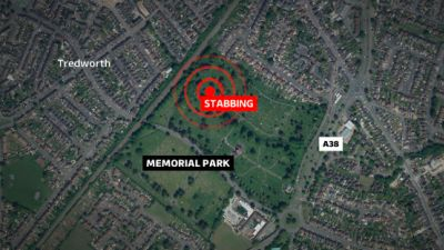 Map of where the stabbing happening in Gloucester