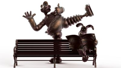 An impression of the Wallace and Gromit statue planned for Preston