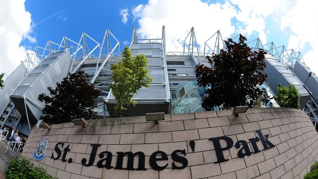 St James' Park, home of Newcastle united.