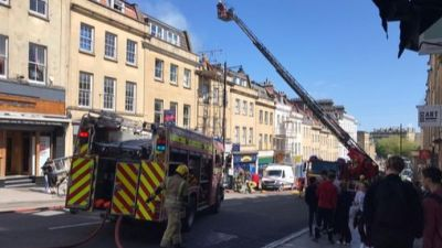 Three fire engines were called to tackle a building fire that broke out in Park Street