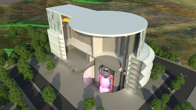 Artist's impression of the new STEP fusion reactor. Pic from UK Atomic Energy Authority, 14/10/21.
