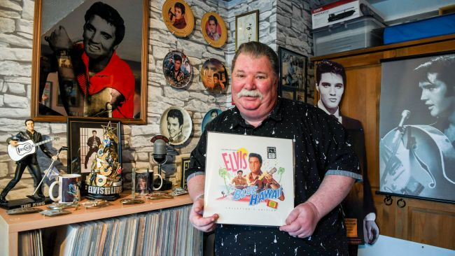 Martin Weetman has been an ardent fan of Elvis Presley since the 1960s and has a room in his home dedicated to the late artist