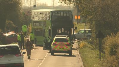 Photo of the crash on the Isle of Wight which killed a woman - ITV News