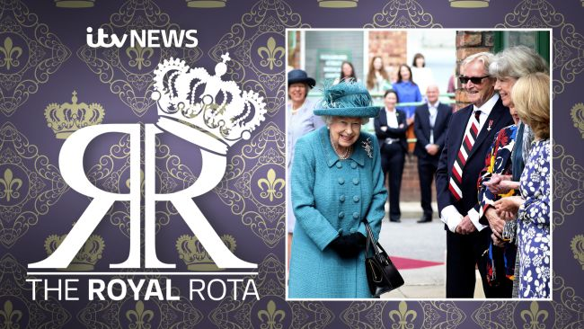 The Queen meeting three cast members if the TV soap Coronation Street