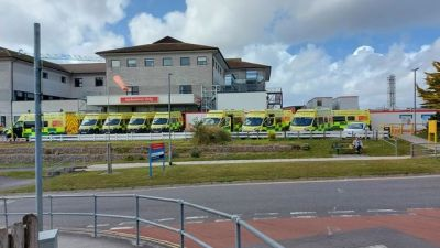 One visitor claimed that there were 21 ambulances queued outside the hospital because of a backlog of patients needing care
