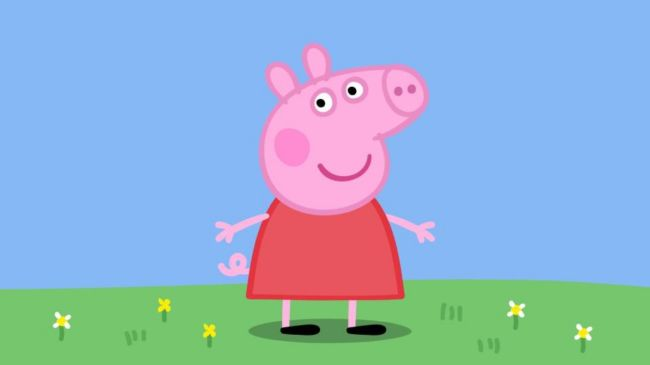 The children's cartoon follows the life of a pig, Peppa, and her family in a UK fictional town.