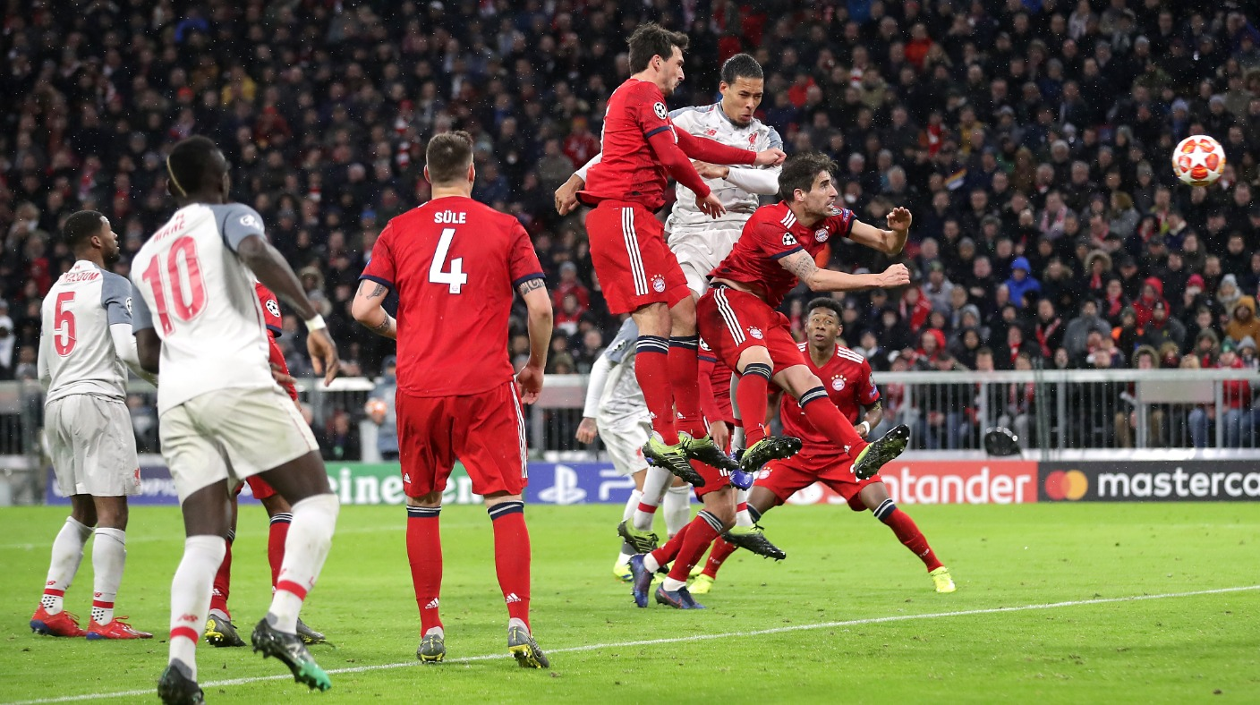 Mane S Double Either Side Of A Van Dijk Header Sends Liverpool Through To The Quarter Finals Of The Champions League Itv News