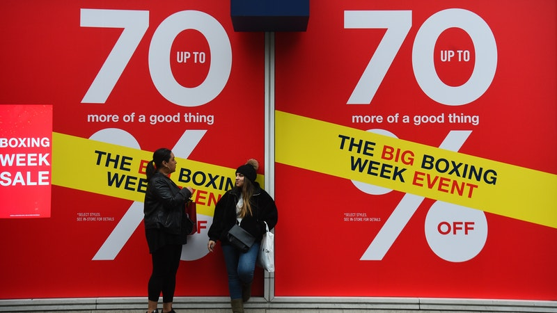 Bad weather deters Boxing Day shoppers
